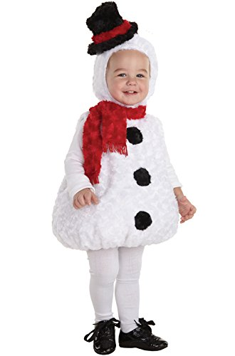 Snowman Costumes Toddler (Underwraps Baby's Snowman Bally, White/Black/Red, Large)
