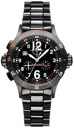 b0bbf78b5 Hamilton Khaki Air Chrono Quartz Mens Watch H74592133: Amazon.co.uk: Watches