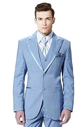 MYS Men de Custom Made Groomsman Peak traje de solapa chaleco ...