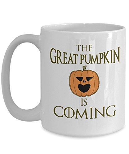 Autumn Mug Great Pumpkin is Coming Funny Office Work Fall Coffee Mugs Best Halloween Costumes Set Gifts Idea for mens womens boys (Best Costume Halloween Ideas)