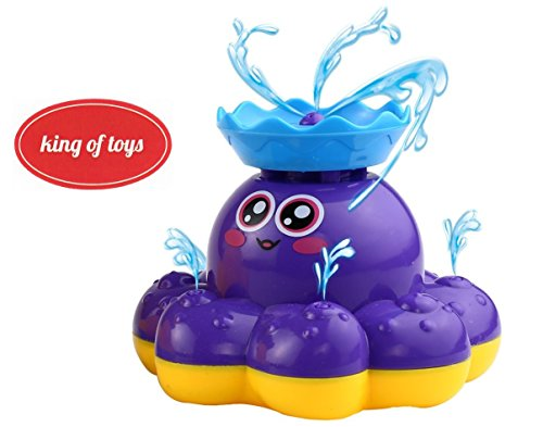 Bath Toy Waterfall Water Spray Octopus Can Float Rotate With Fountain In Bathtub Or Pool ()