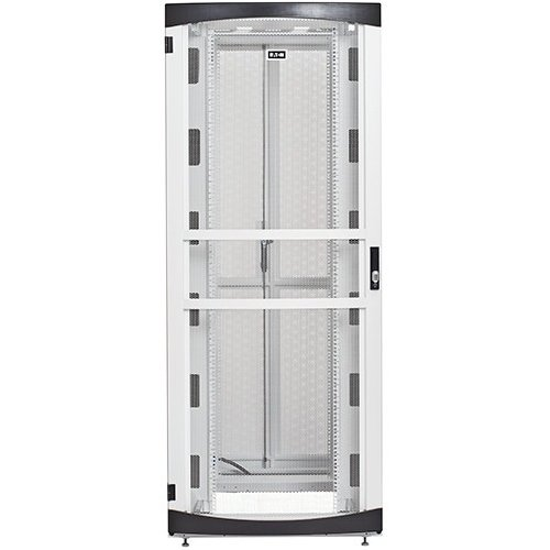 Eaton Electrical - RSVNS4560W - Eaton RSVNS4560W Rack Cabinet - 45U Wide for Server, LAN Switch, Patch Panel, UPS, PDU - White - Metal - 2000 lb x Dynamic/Rolling Weight Capacity - 3007 lb x
