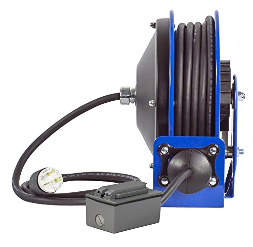 coxreels-pc10-3012-f-compact-efficient-heavy-duty-power-cord-reel-with-a-duplex-gfci-metal-industrial-receptacle