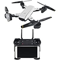 WiFi Quadcopter Drone ,SG-700 Foldable Streamer Positioning 360° Tumble 2.0MP Optical Flow Dual Camera with LED light Phone Control, WIFI image Transmission