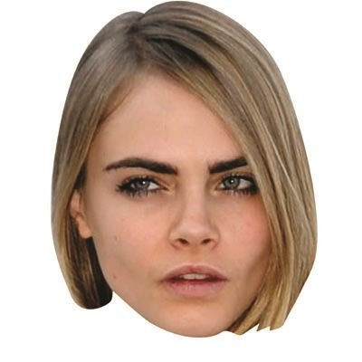 Cara Delevingne Mask, Cardboard Face and Fancy Dress Mask (Celebrity Face Masks)