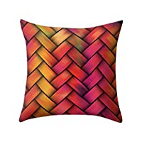 wwffoo Visual Impact Color Pillowcase Throw Pillows Covers Sets Cushion Cases for Couch Sofa Bedroom Soft Living Room Outdoor Decorative Simple Geometric Print 18 x 18 inch (B)