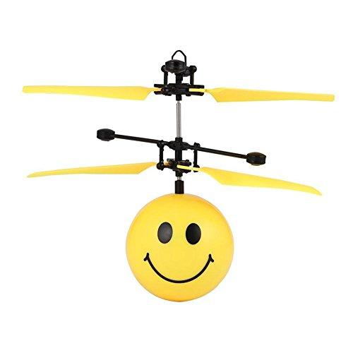 Domybest 飛行機おもちゃ ミニ センシング制御 3秒スタート 空中に浮遊 カラフル 子供おもちゃ 充電USB 可愛い 笑顔 人気 プレゼント