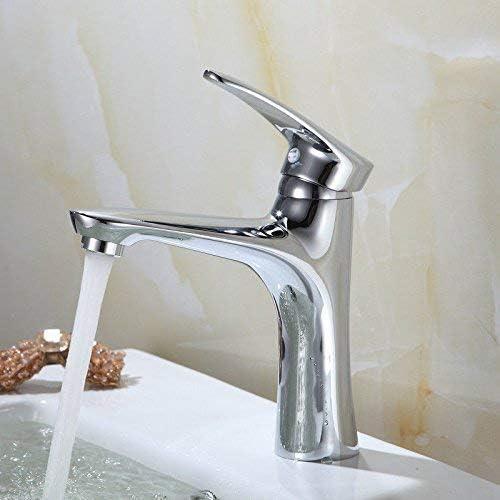 CLJ-LJ 洗面所真鍮温水と冷水単穴シングルレバー洗面化粧台のシンクの蛇口のための洗面シンクミキサータップ