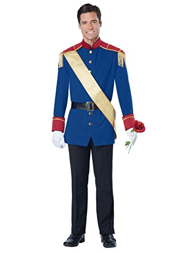 California Costumes Men's Storybook Prince Costume, Blue/Red Medium