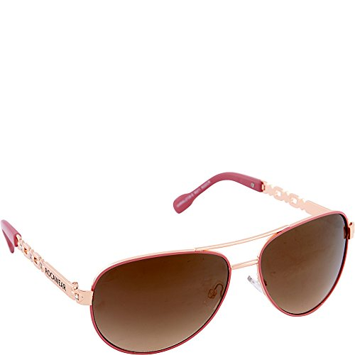 Rocawear Women's R571 RGDCR Aviator Sunglasses, Rose Gold & Coral, 60 (Rocawear Sunwear Metal)