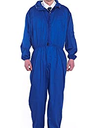 XinAndy Blue Men's Hooded Work Coverall