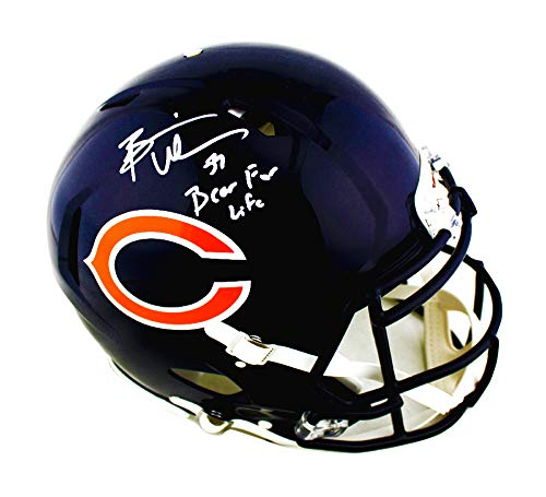 (Brian Urlacher Autographed/Signed Chicago Bears Speed Authentic Helmet With