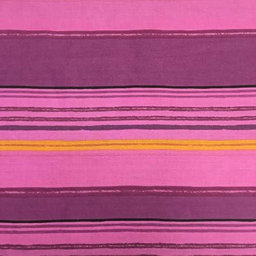 Tela por metros de sábana estampada - Algodón y poliéster - Ancho 270 cm - Confeccionar ropa de cama, decoración, manualidades | Rayas horizontales, lila: Amazon.es ...