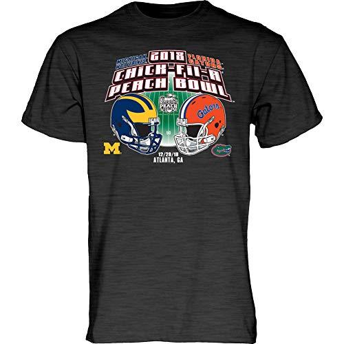 Michigan Wolverines Bowl - Elite Fan Shop Florida Vs Michigan Peach Bowl Tshirt 2018 Charcoal - XXL