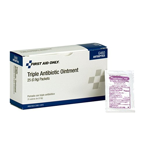 First Aid Only Triple Antibiotic Ointment Pack, 25 Count