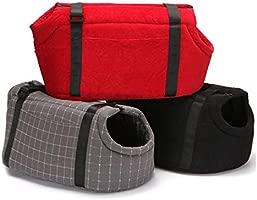 PETCUTE Dog Sling Carrier Bag Shoulder Bag for Cats and Dogs Dog Carrier Bag for Medium Dogs Red Large