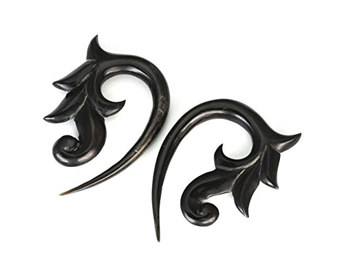 SLEEPING BEAUTY Wholesale Horn Hanger Organic Body Jewelry 12g - 00g - Price Per 1 - 2.5mm ~ 10g