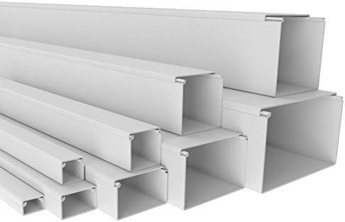 2 m 100x60mm Profi Kabelkanal SCOS Schraubbar PVC Installationskanal Elektro