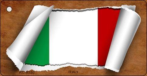Italy Flag Scroll Novelty Aluminum Key Chain KC-9330