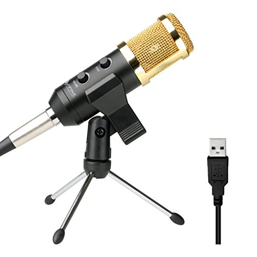 Recording Microphone Usb Fifine Plug & Play Condenser Microphone For PC/Computer(Windows,Mac,Linux OX),Podcasting,Recording-Black(K058)