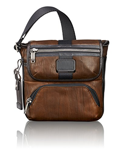 TUMI - Alpha Bravo Barton Crossbody Bag - Leather Satchel for Men and Women - Dark Brown