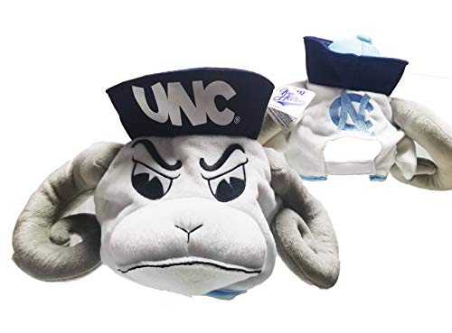 Team Heads University of North Carolina Tarheels Adjustable Back Hat UNC One Size Fits All White
