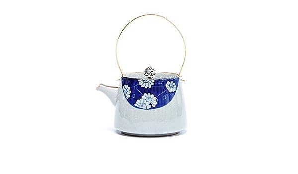 ROKTONG Tetera Antigua de Porcelana Azul y Blanca Pintada a ...