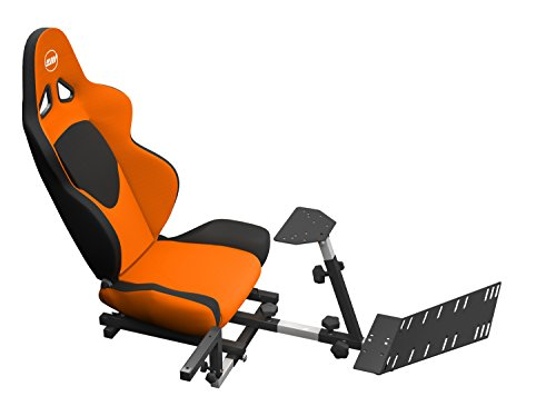 OpenWheeler Advanced Racing Seat Driving Simulator Gaming Chair with Gear Shifter Mount Orange