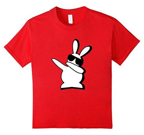 Kids Dance Bunny I Said a Hip Hop Little Easter Shirt Boys Kids 8 Red