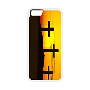 IPhone 6 Plus Cases Crosses with Sunset, Cross [White]