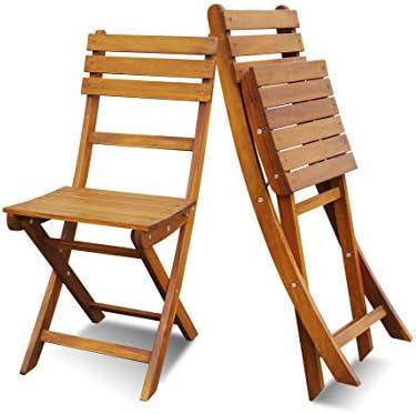 Interbuild Sofia Folding Chair 2 PCS Set Solid Wood