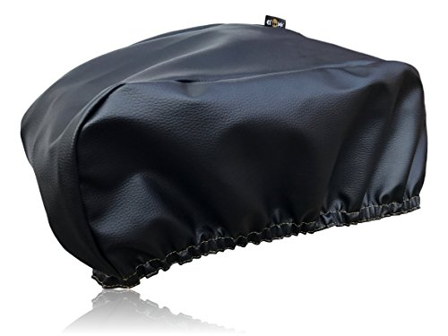 Premium Winch Cover By El Jefe | Dust-proof, Waterproof, UV & Mildew-Resistant Winch Protection Cover W/ Sewn-In Elastic Band | Ideal For Electric Winches Up To 17500 Lbs | 21.5