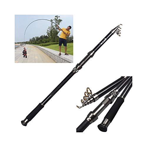- Lespai-Rods Carbon Telescopic Fishing Rod 2.1M 2.4M 2.7M 3.6M Travel Trout Spinning Rod Sea Pole Fishing Tackle,3.6 M