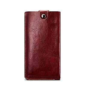 Realtech Rich Leather Pullup Pouch Case Cover for OnePlus 9 – Red