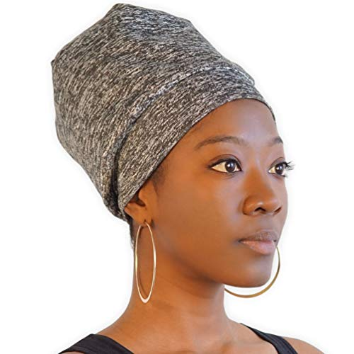 Satin Lined Sleep Cap – Silk Feel Sleeping Bonnet & Curly Hair Wrap – Natural Hair Buff & Head Cover Night Slap Cap For…