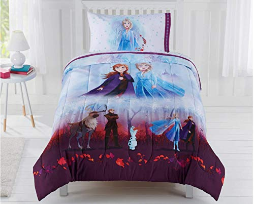 Disney Frozen Elsa Anna Kids Queen Comforter & Sheets- 5 Piece Bed in A Bag + Homemade Wax Melts