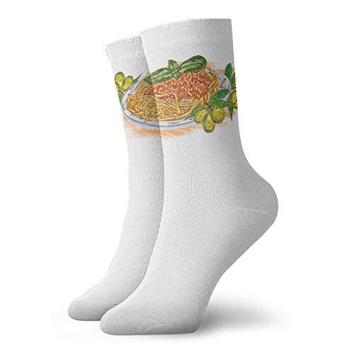 YUANSHAN Socks Hand Print Pasta Women & Men Socks Soccer Sock Sport Tube Stockings Length 11.8Inch]()