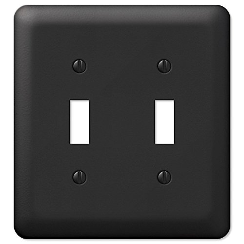 Amerelle 935TTBK 2-Gang Double-Toggle Wall Plate, Black