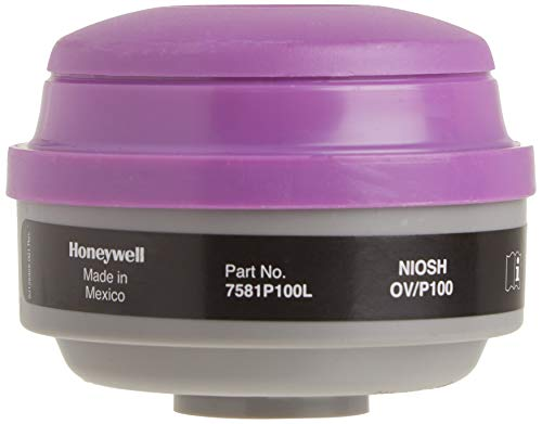 Honeywell 7581P100L Combo Organic Vapor and P100 Particulate Filter Cartridge,Pack of 2