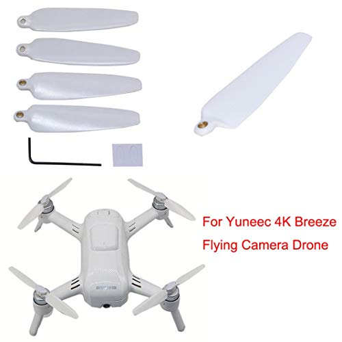 RC Drone Accessories for Yuneec, Elevin(TM) 4X Replacement Props Blade Propellers for Yuneec 4K Breeze Flying Camera Drone