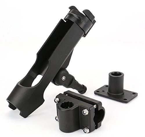 Bekith-2-Pack-Adjustable-Powerlock-Rod-Holder-with-Combo-Mount-Black-Finish