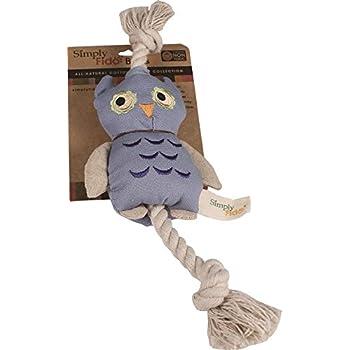 Pet Supplies : Pet Squeak Toys : Simply Fido Blue Owl