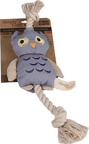 Fido Cotton Organic Simply - Simply Fido Blue Owl Canvas Dog Toy