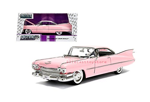 Jada 1: 24 W/B - Metals - Bigtime Kustoms - 1959 Cadillac Coupe Deville Diecast Vehicles