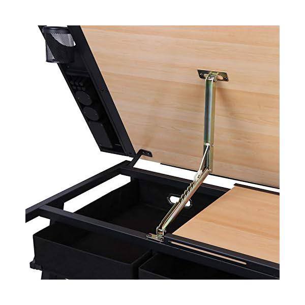 D4P Display4top inclinabile da Tavolo redazione Disegno scrivania Regolabile in Altezza e Due cassetti per Disegno… 6 spesavip
