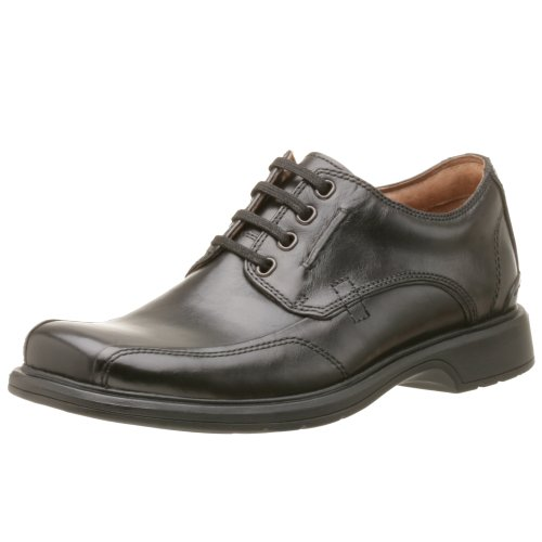 Clarks Mens Band Bicicletta Punta Oxford Nero