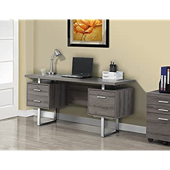 metal office desks. monarch specialties dark taupe reclaimedlooksilver metal office desk 60inch desks s