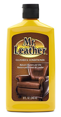 Mr. Leather Protectant - 8 oz. Liquid Cleaner (Leather Couch Protectant)