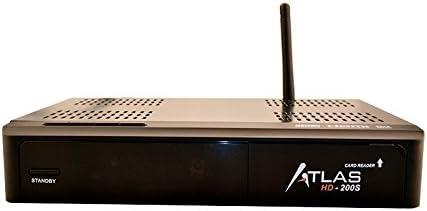 Cristor Atlas HD-200s - Receptor de TV por satélite (WiFi, USB 2.0, DVB-S2), negro (importado)