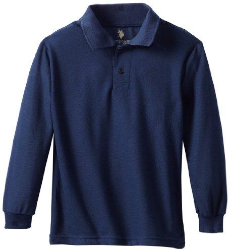 U.S. Polo Assn. Boys Shirt (More Styles Available), Pique Navy, 10/12